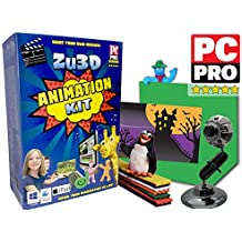 Kit Zu3D Animación para PC con Windows , Apple Mac OS X y iOS iPad : kit completo de animación stop motion con la cámara , el software y el manual de animación
