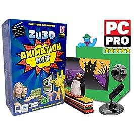 Kit Zu3D Animazione per PC Windows, Apple Mac OS X e iPad iOS: kit completo animazione stop motion con la macchina…
