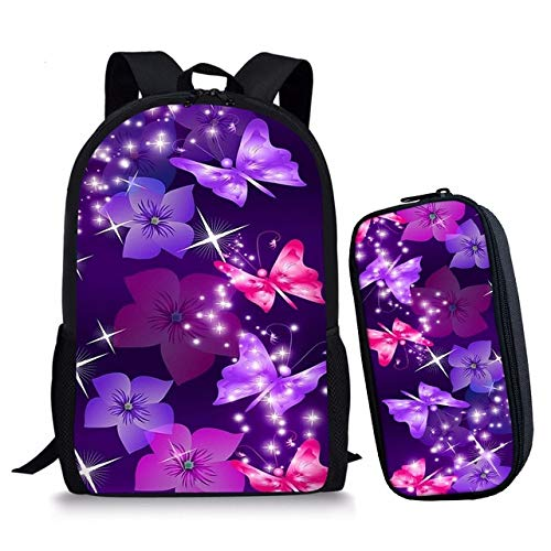 2pcsset Fashion Kinderrucksack Set S School Printing Bags Kids Backpack Girls Teenager Boys Butterfly Hpadr For 0w8OXPnk