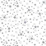 Transparente Tischdecke mit Sternen Grau DIKCKE ca. 0,15 mm · Eckig 130x220 cm · Länge & Breite wählbar Weihanchten