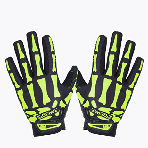 Lerway MTB Fahrrad Voll Finger warmen Radsport Fahrrad Handschuhe Herren Motorrad Vollfingerhandschuhe Herren Fahrradhandschuhe (Grün-XL)
