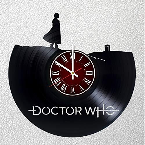 Doctor Who Art Wanduhr, 30 cm, Vinyl-Platten-Wanduhr, Dr. Who, Fangeschenk, Breaking Bad Clock, Kinderzimmer-Dekoration, Marvel Home Art Party, Dr. Who Who Movie Art Doctor Who Boys