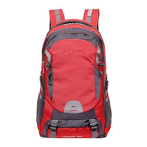 Mâle Femelle Sac à Dos Grande Capacité 60L Sac Extérieur Imperméable Voyage Sports Sac à Dos D'alpinisme