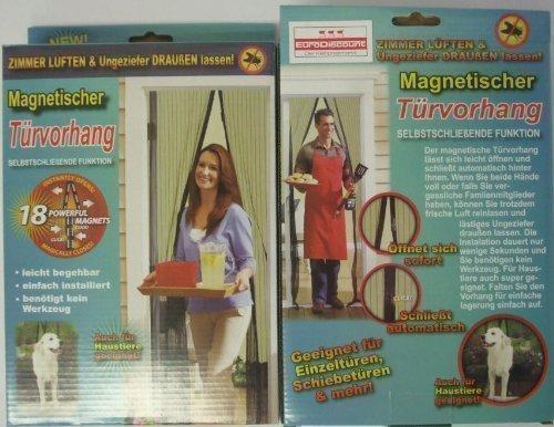 Insektenvorhang mit Magnetverschluß, Insektenschutz Magnetischer Türvorhang Mückengitter Fliegengitter Vorhang 1 Stück