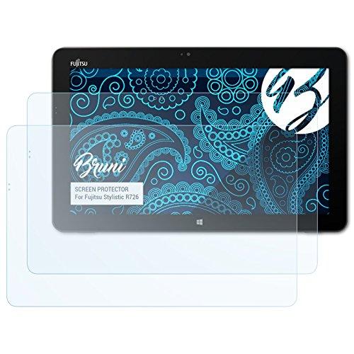 Bruni Schutzfolie kompatibel mit Fujitsu Stylistic R726 Folie, glasklare Bildschirmschutzfolie (2X)