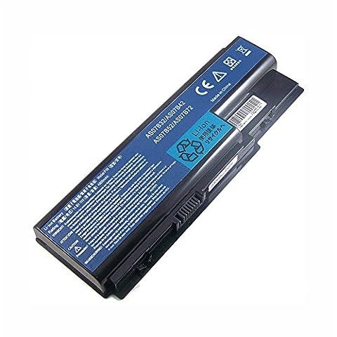 Bouyi - AAA Ersetzen Notebook Laptop Batterie AS07B42 Akku für Acer Aspire 5940G 5942G 8930G 8935G 8940G AS07B42 14.8V 8 Zell