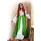 Limit Sport - Disfraz medieval Clarisa, para adultos, color verde, talla XXL (MA580)