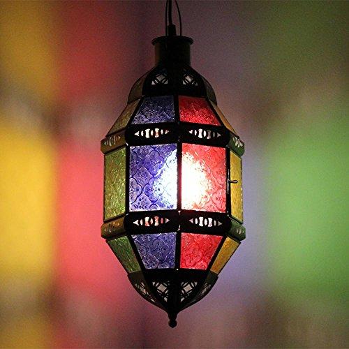 albena Marokko Galerie 13-117 Nala lámpara oriental estilo marroquí 40 cm cristal colorido