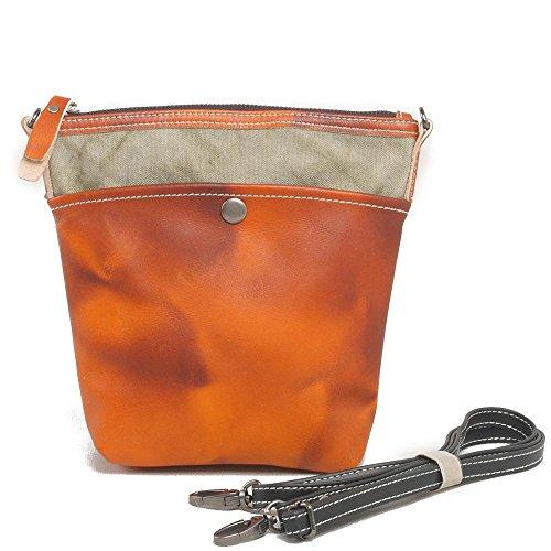 Europa und die Vereinigten Staaten Männer und Frauen Leinentasche Europa und die Vereinigten Staaten Retro Tasche Rucksack Messenger Bag Orange