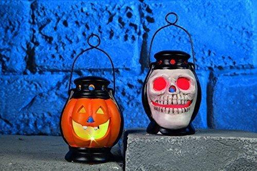 10cm Halloween LED flameless laterne totenkopf oder kürbis party dekoration (Halloweeen Dekorationen)