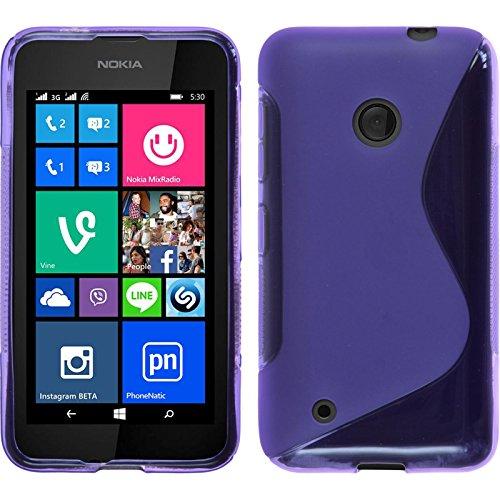PhoneNatic Case für Nokia Lumia 530 Hülle Silikon lila, S-Style Cover