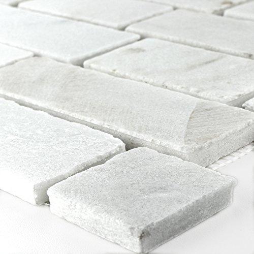 Brick-mosaik-fliesen-böden (Mosaikfliesen Schiefer Mosaik Weiß Brick)