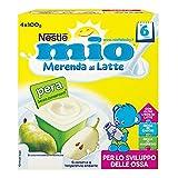 Nestlé Mio Merenda al Latte e Pera, 4 Vasetti x 100 g