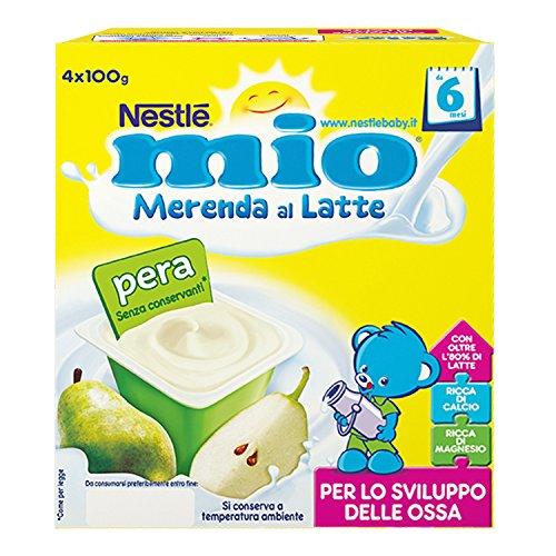 Nestlé Mio Merenda al Latte Pera da 6 Mesi Pacco da 24 x 100 g