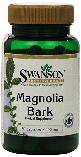 Swanson Magnolienrinde (Magnolia Officinalis) 400mg, 60 Kapseln (Magnolia Bark capsules) (Kapseln Herbal-supplement-60)