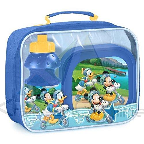 Mickey Mouse Bolsa Portameriendas con Cantimplora Y Sandwichera, Multicolor (Suncity SUE-MMO102559)