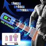 Penispumpen Sexspielzeug Nabini Elektrisch Sexspielzeug Vakuumpumpe für Männer Penis Erektion Penisvergrößerung mit 4 Penisring und Vagina Eingang
