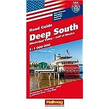 Hallwag USA Deep South Road Map: New Orleans, Memphis, Nashville, Natchez