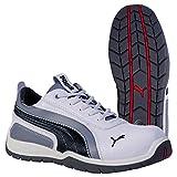 Puma - Monaco Low S3 HRO SRC, Puma - Chaussures de sécurité - Mixte Adulte - Blanc (weiß/grau 100) - 38 EU