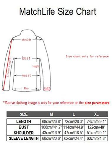 MatchLife Homme Nouveau Col Montant Toison Manteau Pull Cardigans Style2-Beige