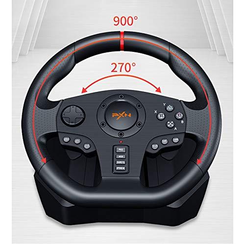 PC Racing Wheel, Rad Universal-USB-Auto-SIM 270/900 Grad Rennen Lenkung mit Pedalen für PS4, PS3, PC, X360, Switch