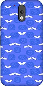The Racoon Lean printed designer hard back mobile phone case cover for Motorola Moto G 4th Gen. (Blue Evil)