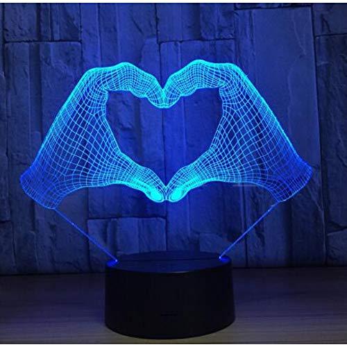 MHXXYD 3D Led Nachtlicht 7 Farbwechsel Nachtlicht Innendekoration Beleuchtung Halloween Geschenke