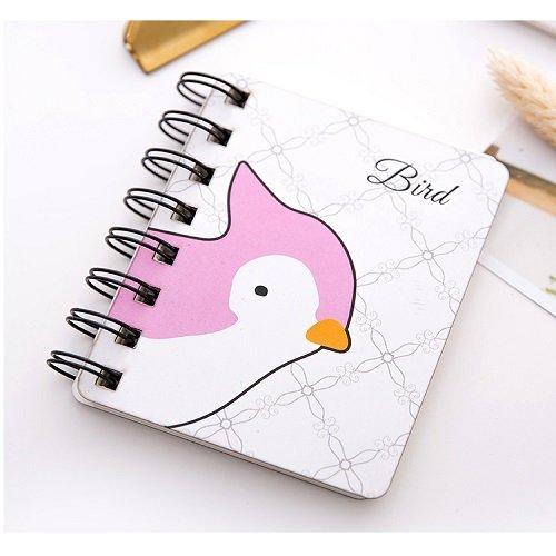 tor Spule Notebook Für Kinder Geschenk Tägliche Notizen Notizen Schreibwaren 80 Seiten Mini Planer Einfache Pocket Book, Vogel ()