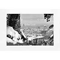Archivio Foto Locchi Firenze – Stampa Fine Art su passepartout 70x50cm. – Immagine di Firenze sotto la neve negli anni '50