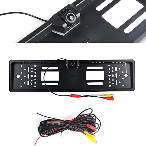Dasaita Universal Auto hinten betrachten 170 ° HD Winkel Rückfahrkamera Reverse Einparkhilfe System Kamera Backup Lizenz Nummernschild Halter Rahmen Perfect Night Vision Wasserdicht und stoßfest Universal Reverse-rückfahrkamera