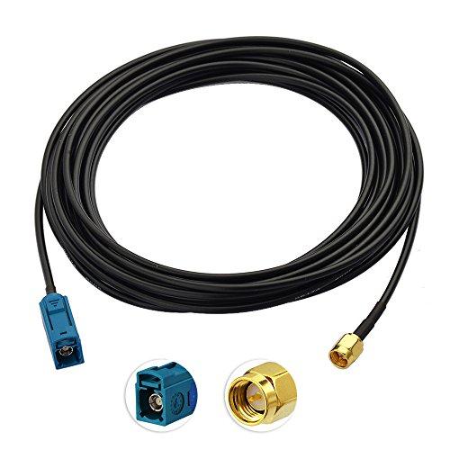 Toiot DAB Antennenkabel Fakra Buchse auf SMA Stecker Adapter RG174 5m Verlängerungskabel für Autoradio Revo JVC Pioneer Panasonic Pure Alpine Clarion Kenwood (Auto-scanner-radio)