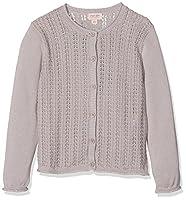 Noa Noa Girl's Mini Basic Cotton Melange Cardigan, Purple (Gull Gray), 4 Years