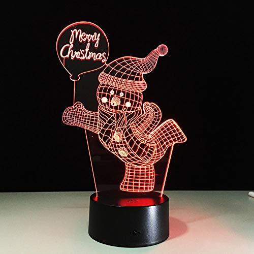 ten Schneemann Fernbedienung LED Schreibtisch Tisch Nachtlicht Lampe 7 Farbe Lampe Kiddie Kinder Kinder Familie Urlaub Geschenk Home Office Kinderzimmer Thema Dekoration ()