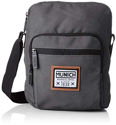 Munich Herren Crossbody PACHT Kuriertasche, Schwarz (Black), 7x29x22 Centimeters