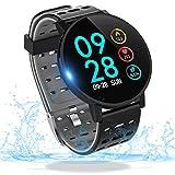 Smart Watch Fitness Tracker Smart Armband Fitnessuhr mit Herzfrequenz IP67 Wasserdicht Kompatibel mit Bluetooth 4.0 oder höher(T3-1)