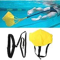 Tbest Entrenamiento de fuerza de natación Cinturón de resistencia Cinturón de entrenamiento de natación con paracaídas de arrastre para adultos Niños