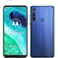 "Motorola Moto G8 (6,4"" HD+ zero-notch display, Qualcomm Snapdragon SD665, 16MP main camera, 2MP macro camera, 4000 mAH battery, Dual SIM, 4/64GB, Android 10, Neon Blue, Neue Blue, a_NA"