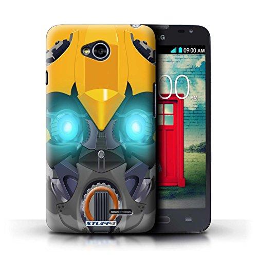 Kobalt® Imprimé Etui / Coque pour LG L70/D320 / Opta-Bot Jaune conception / Série Robots Bumble-Bot Jaune