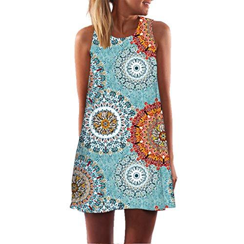 Vestido Playa Mujer Talla Grande Mini Vestido Corto