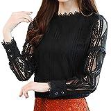 Btruely Pullover Damen Rundhals Langarm Slim Bluse Hemd Shirt Elegante Sweatshirt Oberteil Tops