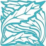 INDIGOS UG - Wandtattoo Wandsticker Wandaufkleber Aufkleber e73 schöne Blätter gewirr 120x119 cm - türkis
