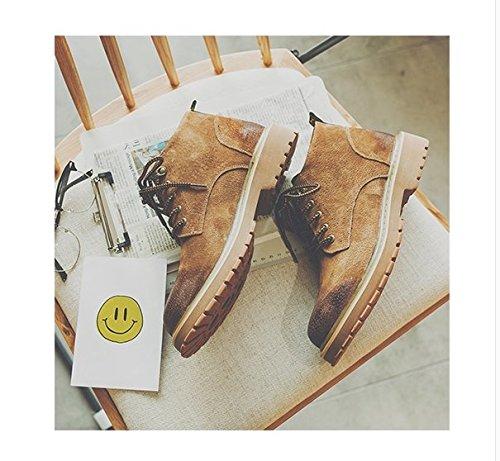 HL-PYL-Tooling Stivali Stivali scarpe retrò coreano Martin Stivali Stivali alti brown