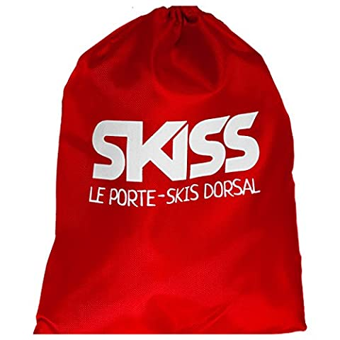 Porte skis dorsal adulte rouge SKISS