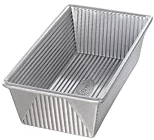 USA Pan Bakeware Aluminized Steel Loaf Pan, 1 1/2 Pound