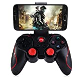 INLIFE T3 Gamepad Joystick 2,4GHz Wireless di Bluetooth 3.0 Compatibile Ricaricabile per Windows PC(XP, 7, 8, 10, ecc.), PS3, Android Smartphone, VR, Android Tablet, iOS Jailbroken immagine