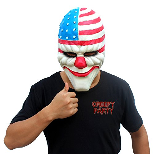creepyparty-mascara-de-cabeza-humana-de-fiesta-de-traje-lujo-de-halloween-de-novedad-el-payaso