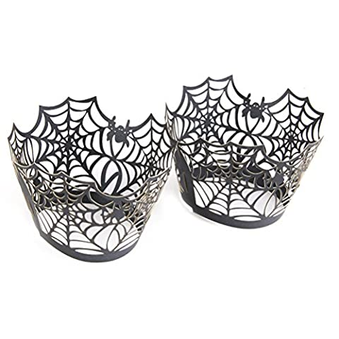 Toile Cupcake - VORCOOL 50pcs Spiderweb Laser Cut Cupcake Wrappers