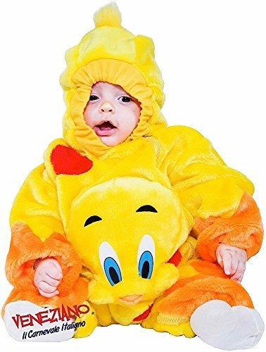 Italian made Baby Jungen Mädchen gelb Cartoon Kanarie Vogel Buch Tag Charakter Halloween Karneval Kostüm Verkleidung Outfit 6-9 (Halloween Kostüme Charakter Kinder Buch Für)