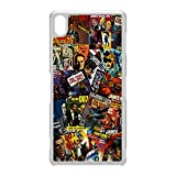 James Bond 007 Retro Comics Sony Xperia Z2 Handy Case Cover WEIß Schutzhülle