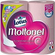 lotus Moltonel 4 Rouleaux de Papier Hygiénique - Lot de 3